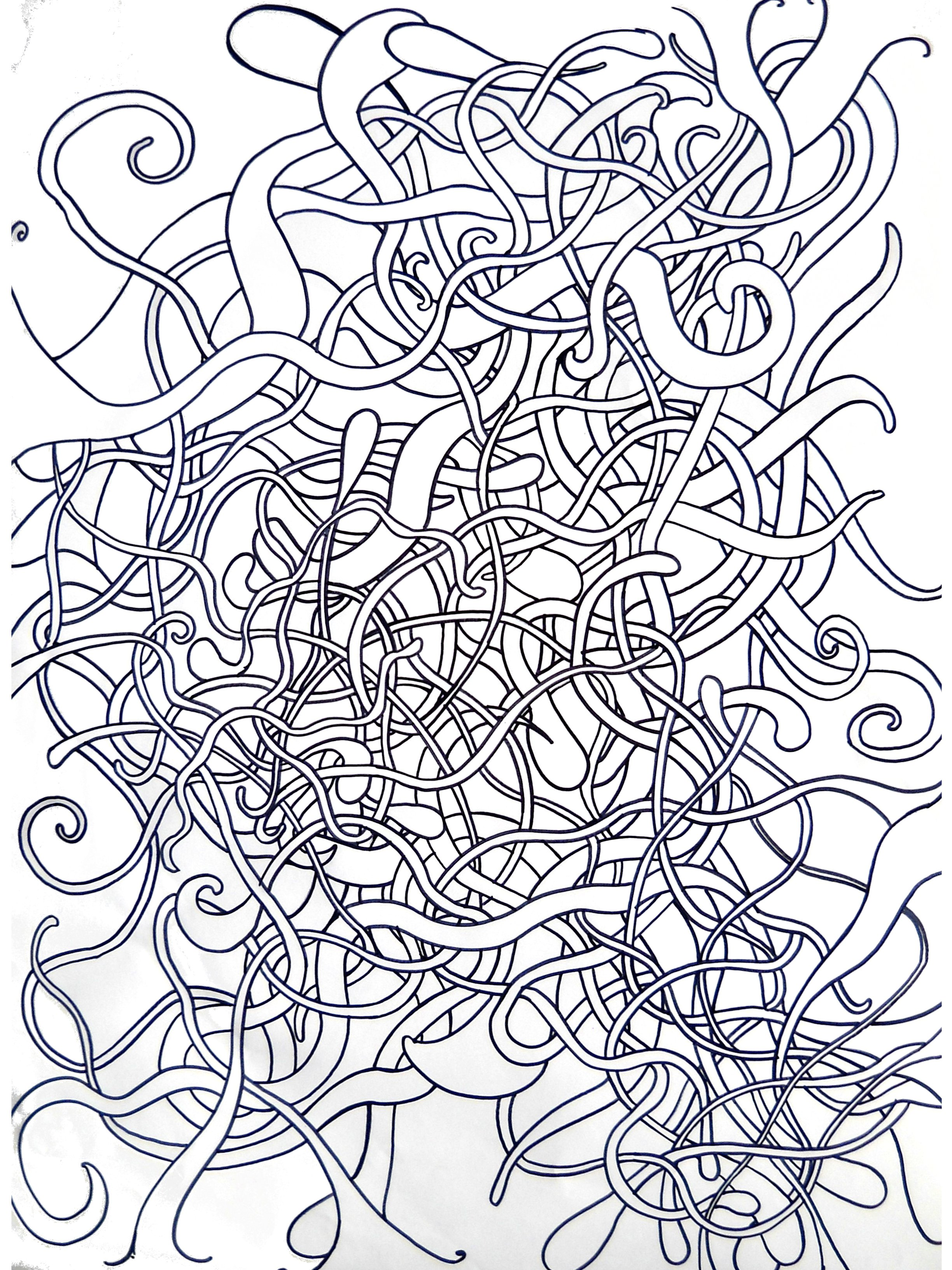 Abstract Line Art : Abstract drawing words with no names
